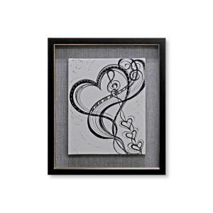 版画 額付 デビー・アランブラ/From the Bottom of His Heart アメリカ ハート キャンバス 絵画 アート ジクレー 壁掛け Debbie Arambula|highspirits-art