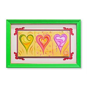 版画 額付 デビー・アランブラ/Love's Not for Sale/愛は非売品 アメリカ ハート キャンバス 絵画 アート ジクレー 壁掛け Debbie Arambula|highspirits-art