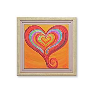 版画 額付 デビー・アランブラ/Heart of Compassion アメリカ ハート キャンバス 絵画 アート ジクレー 壁掛け Debbie Arambula|highspirits-art