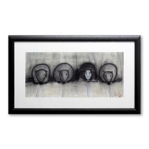 ポスター 額付 デイビッド・ロス/rat race アメリカ 絵画 アート 壁掛け David Ross プレゼント 贈り物 highspirits-art