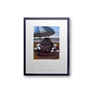 ポスター 額付 デイビッド・ロス/day at the beach(s) アメリカ 絵画 アート 壁掛け David Ross ビーチ 浜辺 プレゼント ギフト highspirits-art