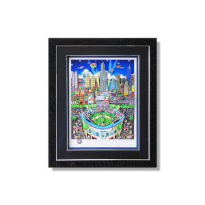 版画 額付 チャールズ・ファジーノ/MLBオールスターinシカゴ 3Dアート シカゴ charles fazzino 版画 野球 MLB メジャー メジャーリーグ アート art アメリカ highspirits-art
