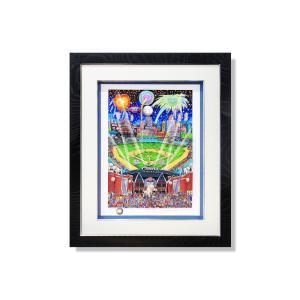版画 額付 チャールズ・ファジーノ/MLBオールスターinデトロイト 3Dアート charles fazzino 版画 MLB メジャー メジャーリーグ 野球 野球選手 アート art highspirits-art