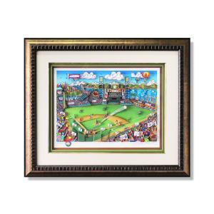 版画 額付 チャールズ・ファジーノ/MLBオールスターinサンフランシスコ 3Dアート charles fazzino 版画 MLB メジャー メジャーリーグ 野球 野球選手 アート art highspirits-art