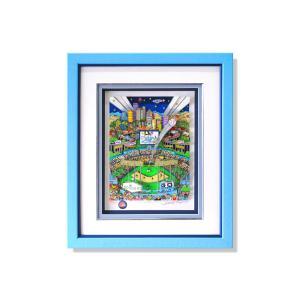 版画 額付 チャールズ・ファジーノ/ドジャー・ブルー 3Dアート charles fazzino 版画 MLB メジャー 野球 野球選手 アート art ドジャース ロサンゼルス highspirits-art