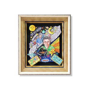 オリジナル 額付 チャールズ・ファジーノ/チック・コリア 3Dアート ニューヨーク charles fazzino 版画  アート art アメリカ Chick Corea ピアニスト|highspirits-art
