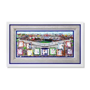 版画 額付 チャールズ・ファジーノ/ヤンキース・ステート・オブ・マインド 3Dアート charles fazzino 版画 MLB メジャー 野球 野球選手 アート art highspirits-art