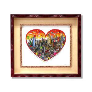シルクスクリーン 額付 チャールズ・ファジーノ/インベーディング・NYC 3Dアート ニューヨーク charles fazzino 版画  アート art アメリカ ゲーム ハート|highspirits-art