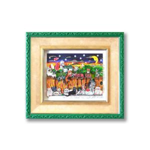 シルクスクリーン 額付 チャールズ・ファジーノ/キャット・スクラッチ 3Dアート ニューヨーク charles fazzino 版画  アート art 猫 キャット 猫好き かわいい highspirits-art
