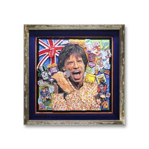 オリジナル 額付 チャールズ・ファジーノ/ミック・ジャガー 3Dアート ニューヨーク charles fazzino 版画  アート art アメリカ 音楽 ロック イギリス|highspirits-art
