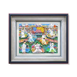 オリジナル 額付 チャールズ・ファジーノ/メジャー・ドリーム・オリジナル 3Dアート ニューヨーク charles fazzino 版画 イチロー 松井 秀喜 野球 野球選手 highspirits-art