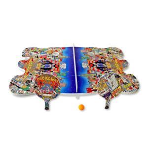 卓球台 ピンポン台 チャールズ・ファジーノ/ジンゾーン・ミニピンポンテーブル 3Dアート ブロードウェイ charles fazzino 卓球 ピンポン スポーツ アート art highspirits-art