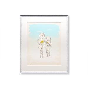 エスタンプ 額付 Two Virgins/ジョン・レノン ビートルズ ロンドン イギリス UK John Lennon アート art 音楽 ロック 日本 Japan Beatles|highspirits-art