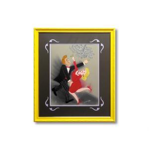 リトグラフ 額付 ランディ・スティーブンス/Dancers II ダンス ニューヨーク 版画 アート 壁掛け リトグラフ版画 Randy Stevens|highspirits-art