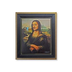 版画 額付 ジム・ウォーレン/dali by da Vinci アメリカ キャンバス 絵画 アート ジクレー 壁掛け Jim Warren ダリ モナリザ|highspirits-art