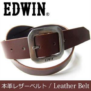 ベルトレザー 本革 EDWIN エドウィン ベルト 35mm幅 イタリーレザー使用ギャリソンバックル カジュアル&フォーマル レザーベルト|highstyle
