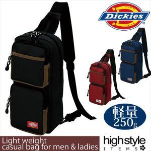 ボディバッグDickies(ディッキーズ) 旅行 カジュアル 軽量ワンショルダーバッグ 2ポケットタイプ|highstyle