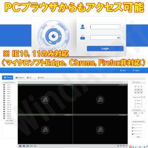 防犯カメラ レコーダー 顔検出 侵入検知機能 DVR AHD TVI CVR CVBS 規格のカメラを4台接続可能 監視カメラ 4ch 録画機 顔認識 NVR|highvalue|06