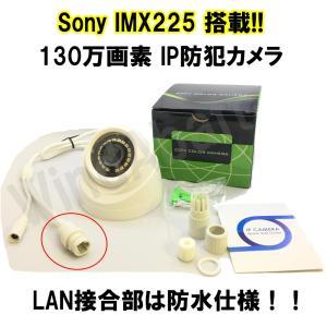 IPカメラ Sony IMX225搭載! 130万画素 付属ソフトですぐに使える! ドーム型防犯カメラ IPカメラ対応録画機(DVR)で使える ONVIF規格対応|highvalue