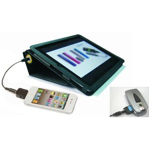 大容量 6600mAh モバイルバッテリー Android スマホ や iPhone ガラケー 等5種の携帯電話充電アダプタ付!iPadカバーのおまけ付 メール便不可|highvalue