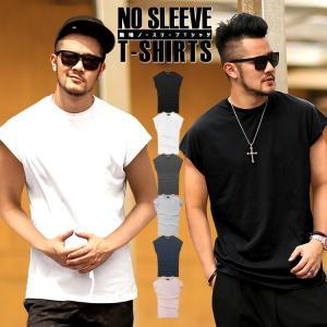 Tシャツ メンズ ノースリーブ タンクトップ 無地 半袖シャツ 袖なし インナー 肌着 ゆったり アメカジ|highwave