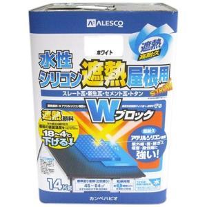 塗料 ペンキ 部品 材料 DIY 工具 カンペハピオ 水性シリコン遮熱屋根用 ホワイト 14K|hihshop