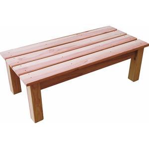 チェア ベンチ 椅子 テーブル エクステリア 杉 万能台 大 60型 60×28×20cm|hihshop