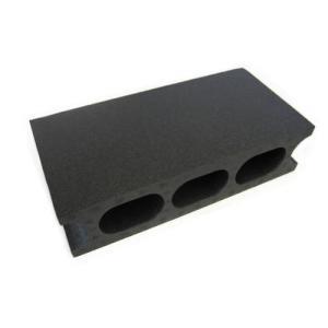 レンガブロック レンガ 建築資材 資材ブロックII ブラック 100X190X390mm|hihshop