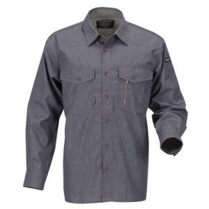 シャツ 作業着 作業服 制服 フォーキャスト Forecast NEWサマーソルジャー長袖シャツ 8502|hihshop