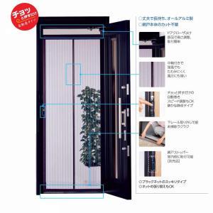 川口技研 ドア用網戸 ノーカットロータリー網戸 NC-21 hihshop