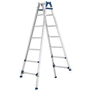 踏み台 脚立 足場 はしご アルインコ(ALINCO) アルミ製脚伸縮式はしご兼用脚立 PRE210F|hihshop