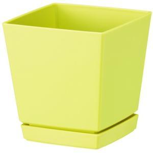 大和プラスチック クエンチローポット(鉢皿付) 6号 ライトイエロー|hihshop