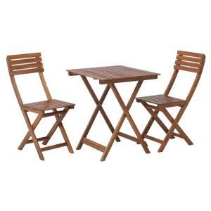 ガーデン3点セット VFS-GT31SM ナチュラル エクステリア ガーデン家具 屋外用 庭 アウトドア ガーデンファニチャーセット 椅子|hihshop