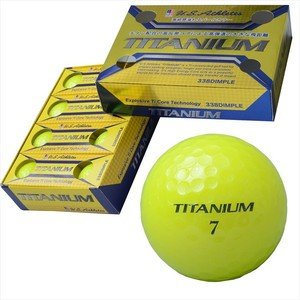 U.S.Athlete チタン配合高反発高弾道2ピースゴルフボール 12個入り イエロー YE|hihshop