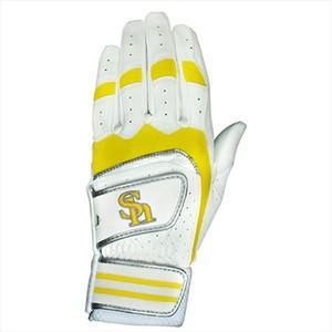 ソフトバンクホークス 野球用バッティング手袋左手用 ホワイト L(25-26cm) L|hihshop