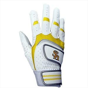 ソフトバンクホークス 野球用バッティング手袋右手用 ホワイト L(25-26cm) L|hihshop