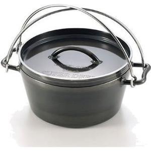 取り扱いがとっても簡単なダッチオーブン! 1枚の鉄板から作られるユニフレームのダッチオーブンは熱伝導...