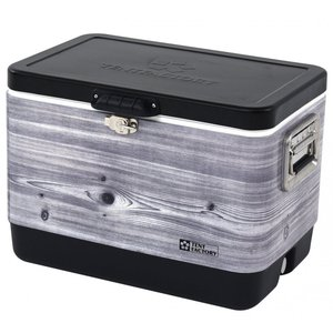 TENTFACTORY メタルクーラー スチールウッドボックス L TF-MBW51-BKW hihshop