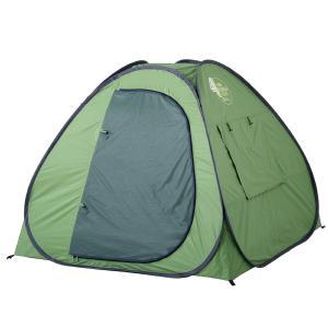 テントファクトリー サンシェード フォータッチプライベートテント グランドタイプ (全面締め切り着替え可能タイプ) グリーン TF-TP4G-SGR hihshop