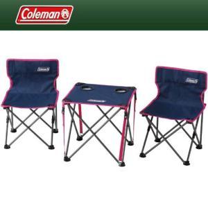 テーブルチェアセット ハンモック チェア テーブル Coleman(コールマン) テーブル・チェアセット コンパクトチェアテーブルセット ネイビー 2000011513|hihshop