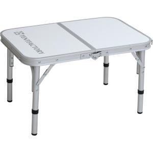 テントファクトリー フォールディングテーブル デュアル 8040S ホワイト 80×40×55(35)cm TF-DFT8040S-WH|hihshop