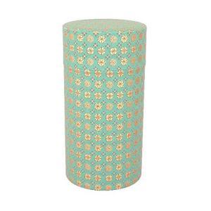 藤田金属 茶筒 和紙張り 200g 小紋 (緑)|hihshop