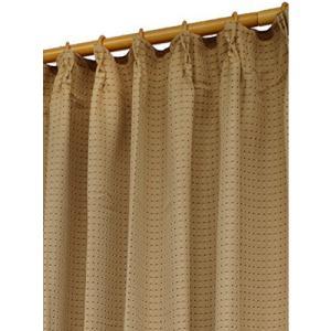 Haruka・Style(ハルカ・スタイル) 4枚組カーテンセット スマイル 幅100×丈135cm ブラウン|hihshop