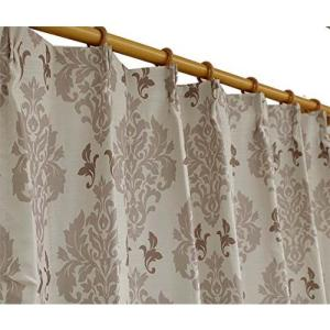 Haruka・Style(ハルカ・スタイル) 裏地付き遮光カーテン1枚 ブリジャンテ 幅200×丈178cm アイボリー|hihshop