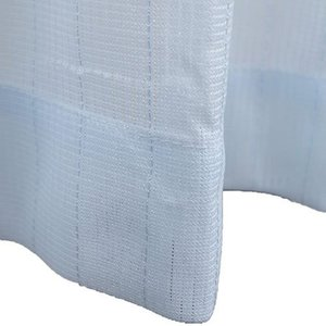 Haruka・Style(ハルカ・スタイル) ミラーレースカーテン2枚組 ラフィール 幅100×丈133cm ブルー|hihshop