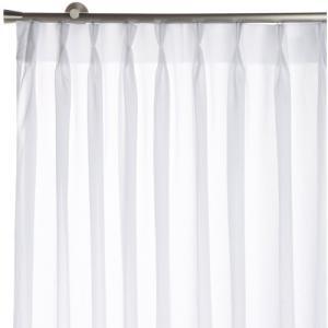 Haruka・Style(ハルカ・スタイル) UVカット93% 2倍ヒダ ミラーレースカーテン 2枚組 ミストプレミアム 幅100×丈176cm ホワイト hihshop