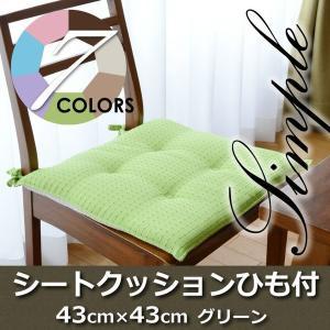 Haruka・Style(ハルカ・スタイル) スマイルシートクッションTR69-S 43×43cm グリーン