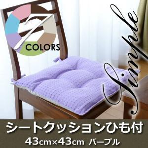 Haruka・Style(ハルカ・スタイル) スマイルシートクッションTR69-S 43×43cm パープル