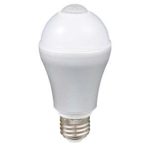 ルミナス LED電球 自動点灯 人感センサー付き 電球色 直下重視タイプ 60W相当 827lm 口金E26 LVA60L-HS|hihshop