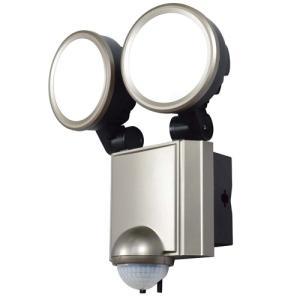 自動点灯センサー付き 玄関灯 屋外照明 エクステリア ELPA LEDセンサーライト 2灯 ESL-SS1002AC ESL-SS1002AC|hihshop